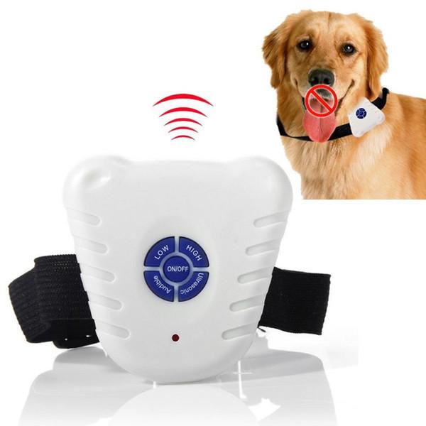 Étanche Chien Stop Barking Control Collar Dispositif De Formation Bouton Clicker Ultrasons Réglable Chien Collier Anti-aboiement