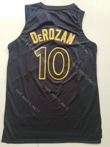 buy online 39bb9 810ad 2018 2018 2019 New Season 10 Demar Derozan Jersey Basketball City Edition  Black Gold Red White 7 Kyle Lowry Jerseys Stitched Breathable Shirt From ...