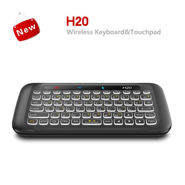 H20 2.4G Doppelseitige Mini Wireless Touch Tastatur Vollbild Touchpad 2.4 Ghz Wireless Mini Tastatur Für Laptop Desktop Tablet