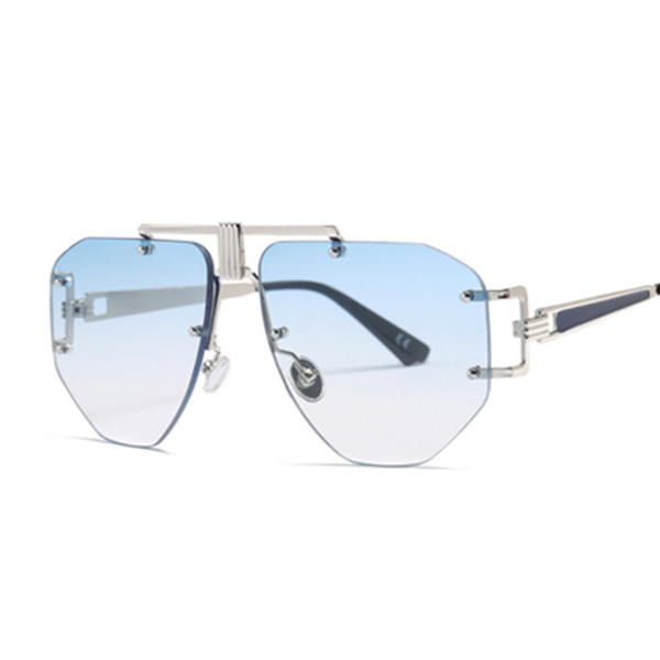Phoemix Unisex Pilot Sunglasses Big Frame Vintage Donna Uomo Brand Designer 2018 Nuova moda Trendy Occhiali da sole Gradiente UV400