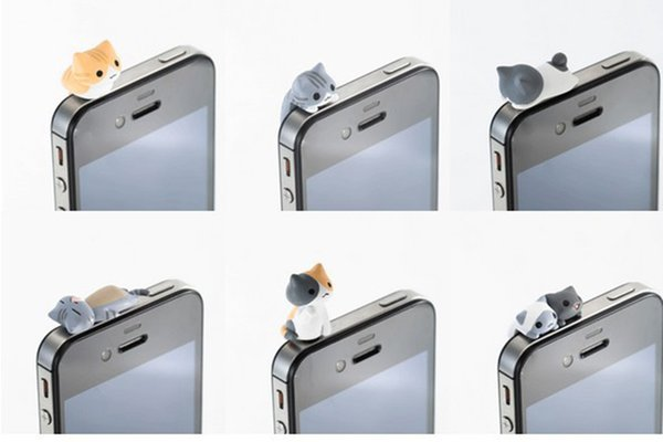 Cat Dust Plug Cute Cheese Cats 3.5 mm Anti Dust Earphone New Jack Plug Cap For iphone Samsung Huawei cell phone Universal