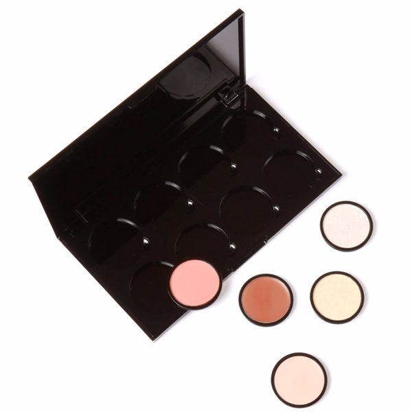 FOCALLURE 8 Colors Palette Empty Storage Box DIY Design Face Bronzer Pressed Blush Paltter Display