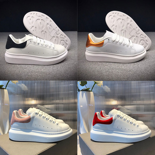 alexander mcqueens Cheap Queen Luxury Brand Designer Uomo Scarpe casual di alta qualità da uomo donna moda sneaker scarpe in pelle sportive Sneakers da tennis