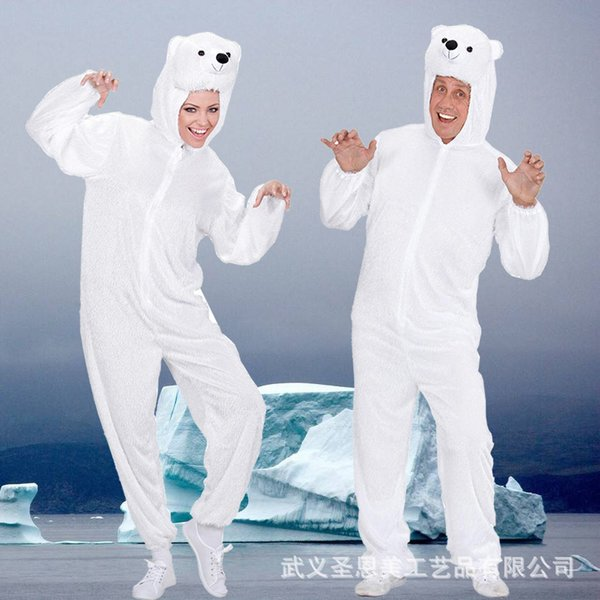 Polar Bear Halloween Animal Cos Show White Serve Mascots Cartoon Costumes Adults Adult Mascot Costume Carnival Party On Sale