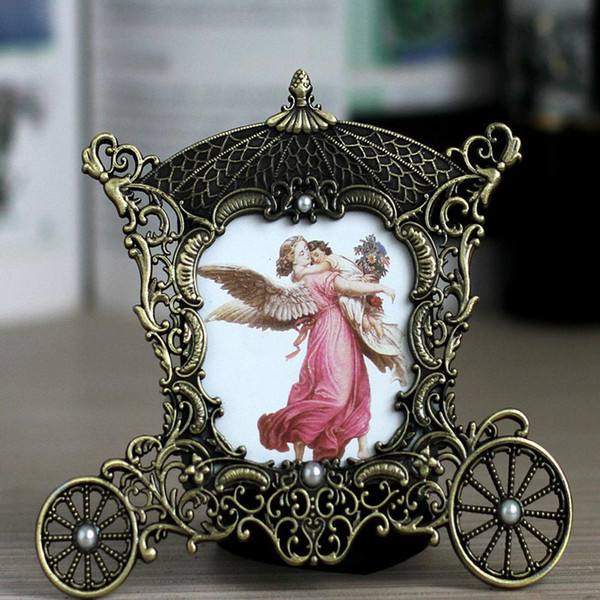 Bronze Metal Picture Frame Caravan Baby Photo Frame High Quality 3 Inch Photo Frames Home Decoration Birthday Gifts 2 Colors