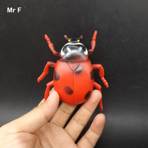 Gags Practical Jokes Red Ladybird Simulation Animal Model Cognitive Learning Game Toys Children Development Knowledge Toy
