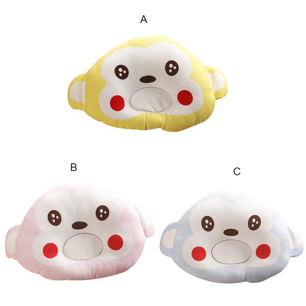New Baby Boy Girl Pillows Cute Cartoon pattern Newborn Pillow Kid Support Shape Soft Velvet Cotton Memory Pillow Sleep Bedding