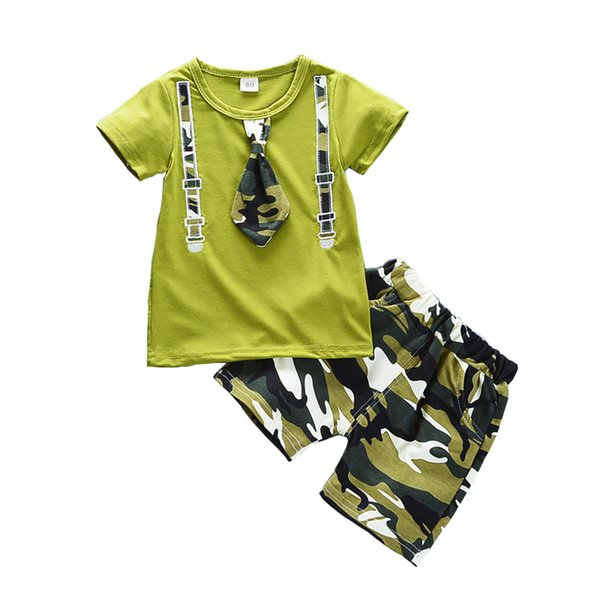 Baby Boys Summer Clothing Sets Newborn Baby Casual Cotton t-shirt+short Pants Tracksuits for Bebe Boy Infant Sports Set
