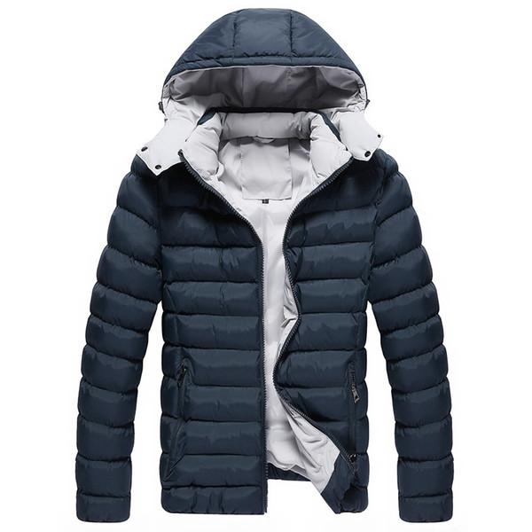 2017 Mode d'hiver Casual Mens New Jacket Manteaux d'hiver Army Green Jackets Outwear coton bleu noir Red Jacket Men Parka