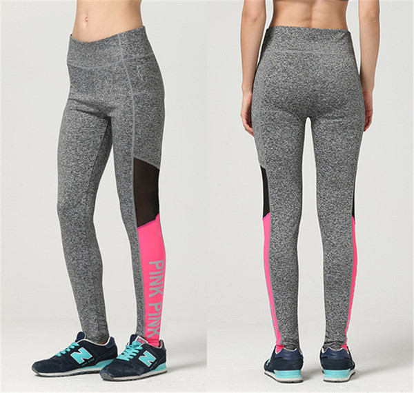 best selling Hot LOVE PINK secret Yoga Jogging Pants Women's Sport Fitness Quick-dry Pant Victoria Tights Trousers girls Leggings Elasticity sportswear
