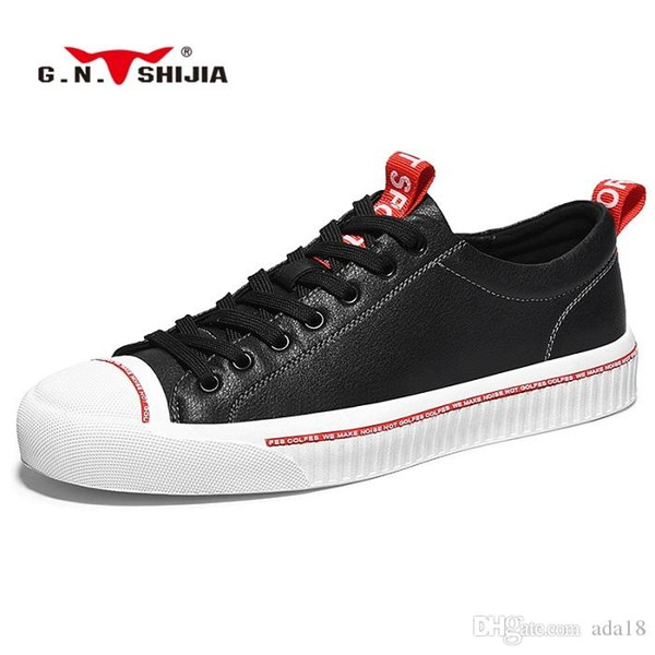 GN Family 2019 good leather made shoes spring and summer new high quality casual fashion designer trend shoes
