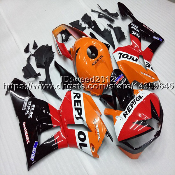 23colors+5Gifts Injection mold repsol orange ABS motorcycle cowl for HONDA CBR 600 RR F5 2013 2014 2015 2016 motorcycle Fairing hull