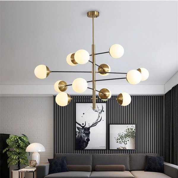 Nordic Minimalist Led Molecule Chandelier Loft Designer Glass Ball Kitchen Coffee Shop Led Hanging Light Fixtures Free Shipping