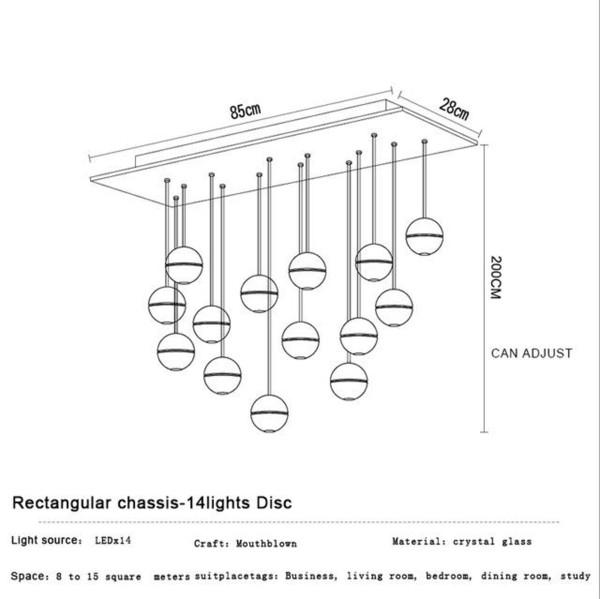 14 Heads Rectangular Base