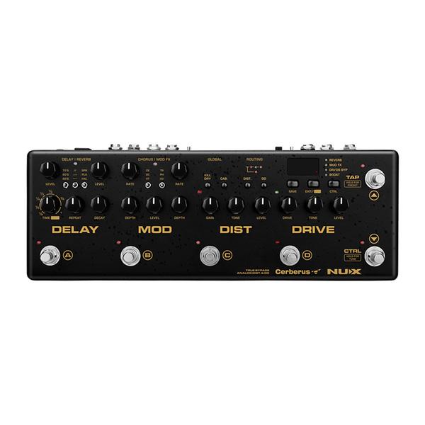 NUX Cerberus Multi Chitarra Effetti a pedale Ritardo Overdrive Effetti di modulazione di distorsione all'interno di routing IR Loader 4 Metodo cavo