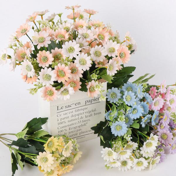 1 UNID 32 cm Simulación Daisy Seda Artificial Crisantemo Flores DIY Ramo de Flores de Boda En Casa Decoración de la Fiesta de Oficina