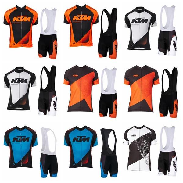 2019 KTM à séchage rapide respirant Jersey Maillot à manches courtes ensemble hommes route Vélo Porter Racing Vêtements Vêtements de sport en plein air K012112