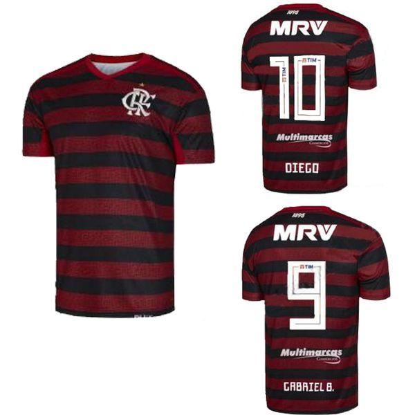 Maillot de football du nouveau club brésilien Flamengo à domicile rouge 19 19 20