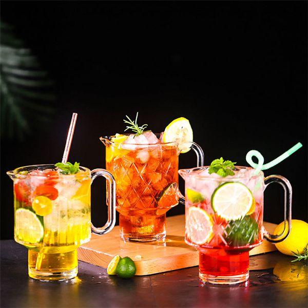 Ins Net beer Glass New Fruit Tea Cup Milk Cups Hot Drinking Tea Juice Cups Catering Cup wine glass 4985