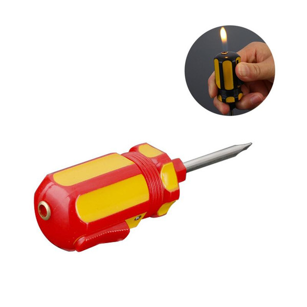Creative Screwdriver Shape Novelty Inflatable Lighter Gas Cigarette Igniter For Home Collection