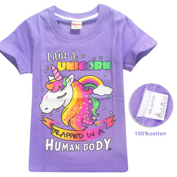 Camicetta a maniche corte per bambini di 5 pezzi Maglietta a maniche corte per bambini di 6-14 anni
