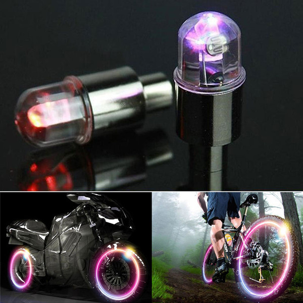 Voiture Auto LED Roue De Valve Tige Bouchon De Pneu Léger Mouvement Néon Éclairage Lampe Vélo Vélo De Voiture Moto Voiture-styling Décor