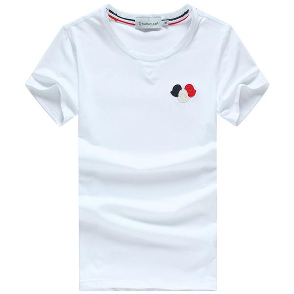 Pull T-shirt Hommes Tops Décontractés # 0750 Coton Printemps Manches Courtes Tees D'été T-shirt de Haute Qualité