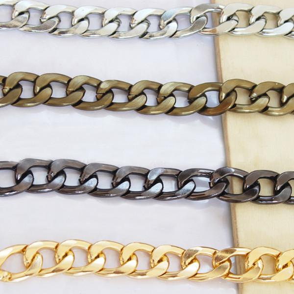 Ultralight Alüminyum Zincirler DIY Altın, Gümüş, Gun Siyah, Bronz 12mm Klipsler ile Yedek Işık Çanta Zincir Omuz Çantası Askısı