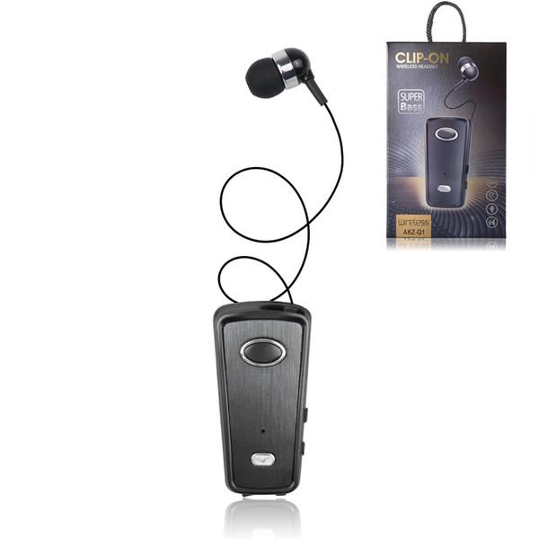 Wireless Driver Bluetooth Headset Calls Remind Vibration Wear Clip Sports Running Earphone single earbuds