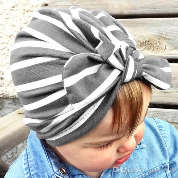 Kids Bunny Ear Hat Stripe Turban Baby 1-6 anni Cap Photo Head Wrap Ornamenti Coniglio copricapo