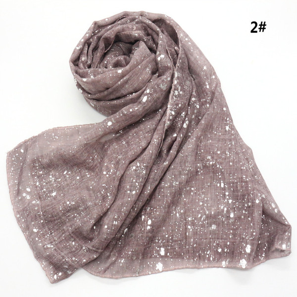 Écharpe en viscose surdimensionnée en paillettes solides à la mode pour femmes Châles et châles chatoyants Hijab Bufandas Muslim Sjaal