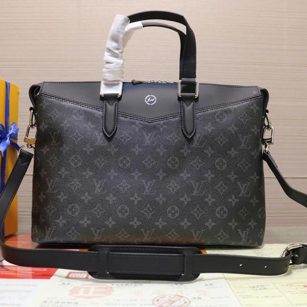 Nova moda designer de luxo saco, couro fazendo designer maleta, super grande capacidade de impressão de moda de luxo bolsa modelo M40566