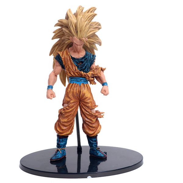 Dragon Ball Z Super Saiyan SON GOKU Battle Damaged Paint PVC Action Figure Collection Model Toys 21cm