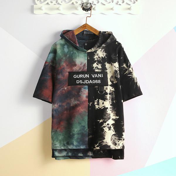 мужские дизайнерские футболки в стиле как балахон мода высокого качества 2019 новый стилист имеет 2 цвета максимальный размер 5XL это размер азии, пожалуйста, проверьте