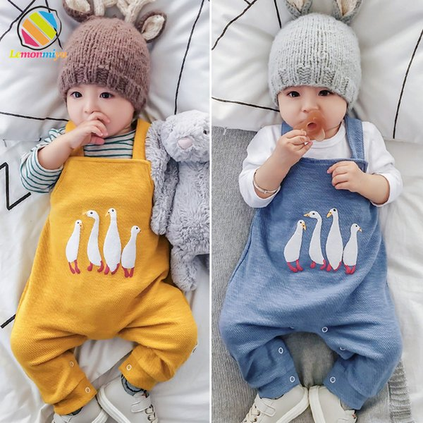 Lemonmiyu Baby Boys Girls Pants Cotton Harem Toddler Long Trousers Cartoon Newborn Overalls Cartoon Animal Leggings For Children Y19061303