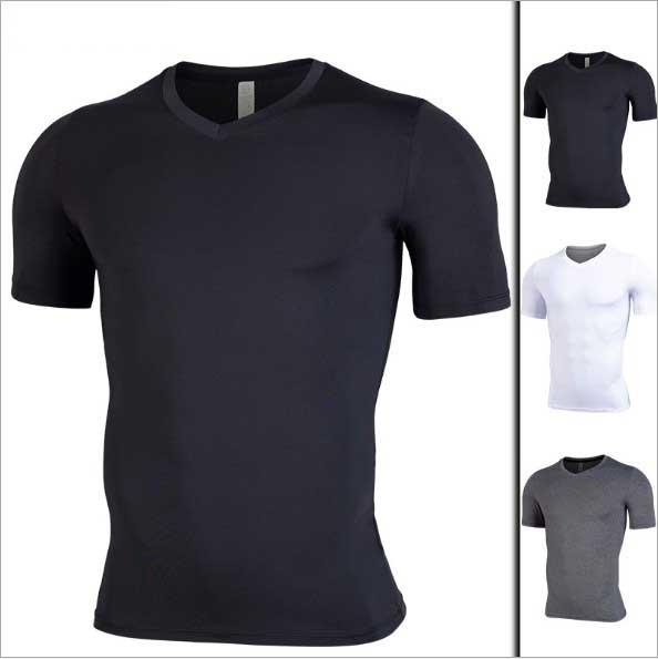 Mens Gyms Kleidung Fitness Compression Base Layers Unter Tops T-Shirt Laufen Crop Tops Skins Gear Wear Sport Fitness