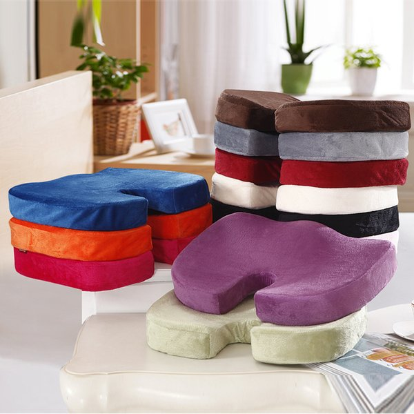 2015 HOT sale Fashion Memory Foam Back Ache Pain Office Chair Orthopedic Seat Solution Cushion high quality free shipping5