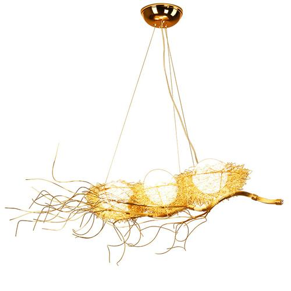 Nordic personality art bird's nest pendant light luxury restaurant chandeliers simple modern creative branch bird's nest garden pendant lamp
