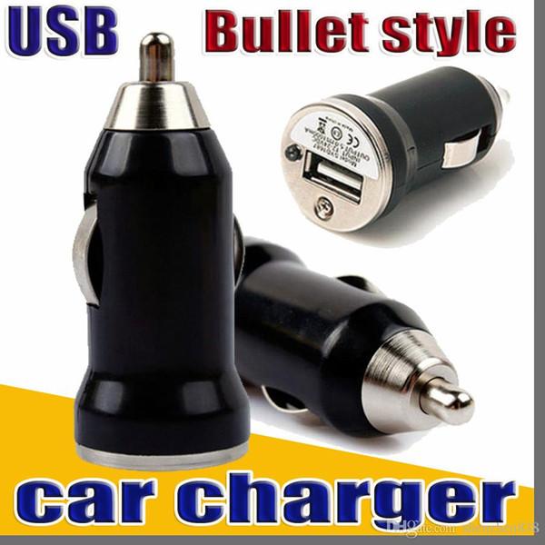 Mini caricabatteria per auto USB singolo Presa per auto universale utilizza adattatore stile proiettile per Iphone 7 7plus 6 6plus Samsung HTC B-CL