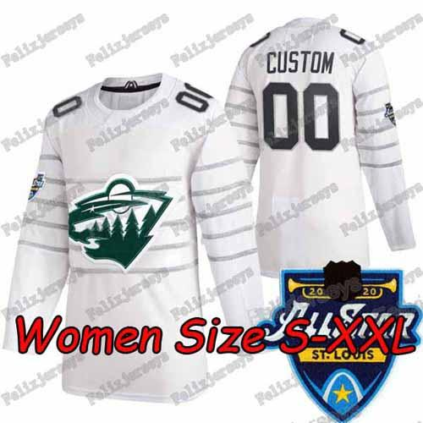 2020 All Star Beyaz Kadınlar: Boyut S-XXL