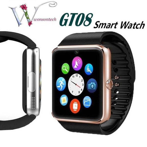SıCAK GT08 SIM Kart Yuvası ve NFC Sağlık ile Bluetooth Akıllı Izle ile Android Samsung ve Smartphone Için Smartphone Bilezik
