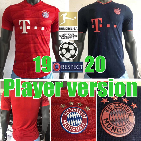 2019 2020 Fc Bayern Munich Player Version Muller Home Soccer Jersey 19 20 3rd 11 James Soccer Shirt Lewandowski Football Uniform Black Yellow Dhgate Com Imall Com