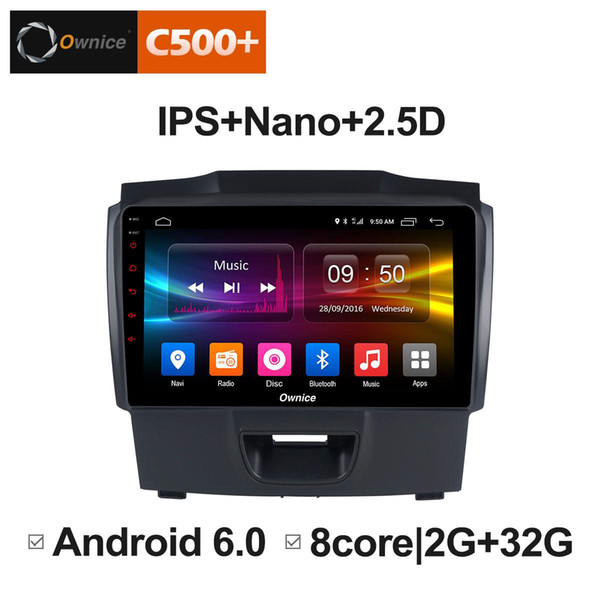 """9"""" 2.5D Nano IPS Screen Android Octa Core/4G LTE Car Media Player With GPS RDS Radio/Bluetooth For Isuzu D-max 2015-2018 #5908"""