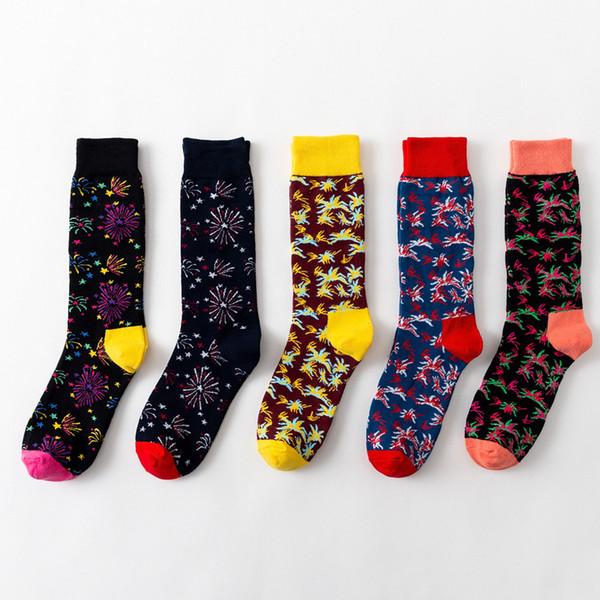 Satın Al Sonbahar Ve Kış Kadın çorapları Tüp Sanat Havai Fişek