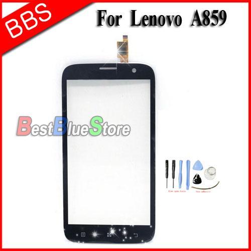 Pour Lenovo A859 Nouveau capteur écran tactile Digitizer remplacement de verre A859 Panneau LCD fenêtre d'affichage Câble écran capacitif + bande