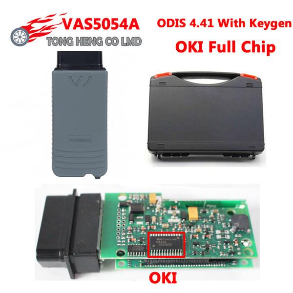ODIS V4.41 VAS5054 OKI VAS 5054A Tam Chip Destek UDS VAS5054A 5054 OBD 2 Teşhis Aracı Tarayıcı VAS 5054 OBD2 Plastik Kutu