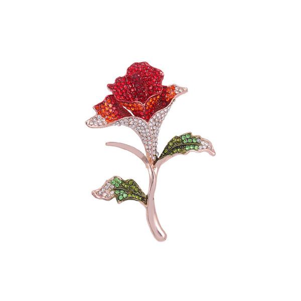 baiduqiandu Flower Brooches for Women Pins Rhinestone Brooch Mujer Vestidos Brosche Plant Brooch DIY Bouquet Bridal Wedding