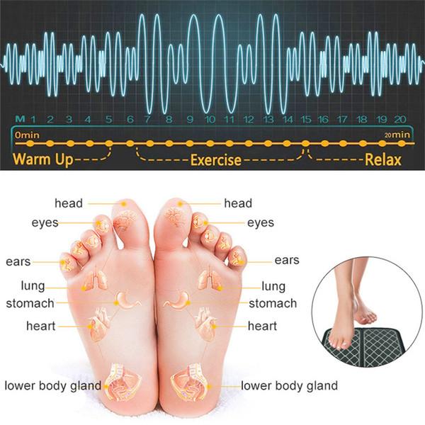 Electro Stimulation EMS Foot Massager Dispositivo di massaggio per terapie per elettroshock Stimolatore muscolare Macchina Piedi Health Care