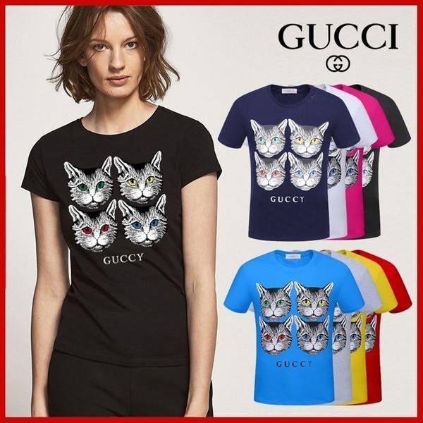 2019 yeni yüksek kalite pamuk baskılı bayanlar T-shirt 32 #