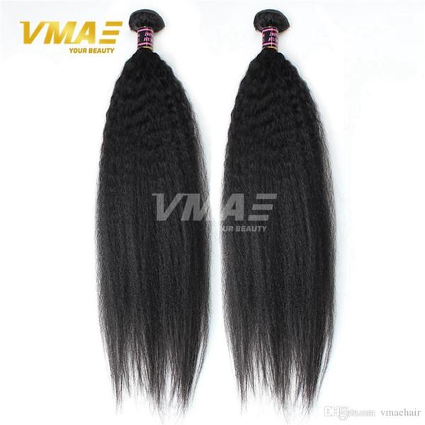 Yaki gerade Jungfrau-Menschenhaar-Verlängerungen 3 bündelt Los unverarbeitete brasilianische Haar-Webart 8-30 Zoll hochwertig